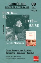 Decitre Levallois-Perret - Soirée - 08/10/2020