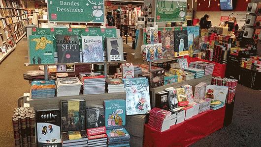 Rayon Noël librairie La Part-Dieu