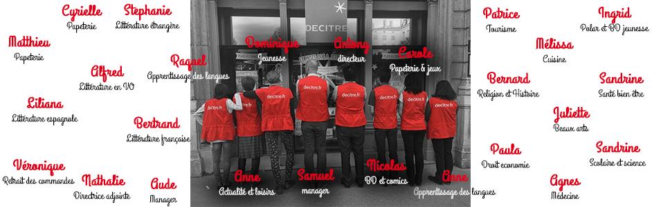L'équipe de libraires de Bellecour
