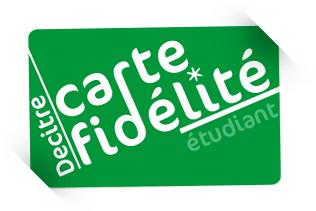 Carte fidélité étudiant