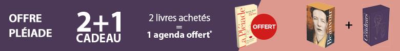 Offre Pléiade : un agenda Serge Bloch offert pour deux tomes Pléiade achetés