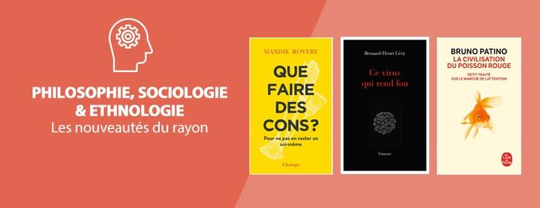 Nouveautés - Philosophie, sociologie & ethnologie