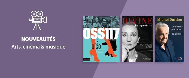 Nouveautés Arts, cinéma & musique