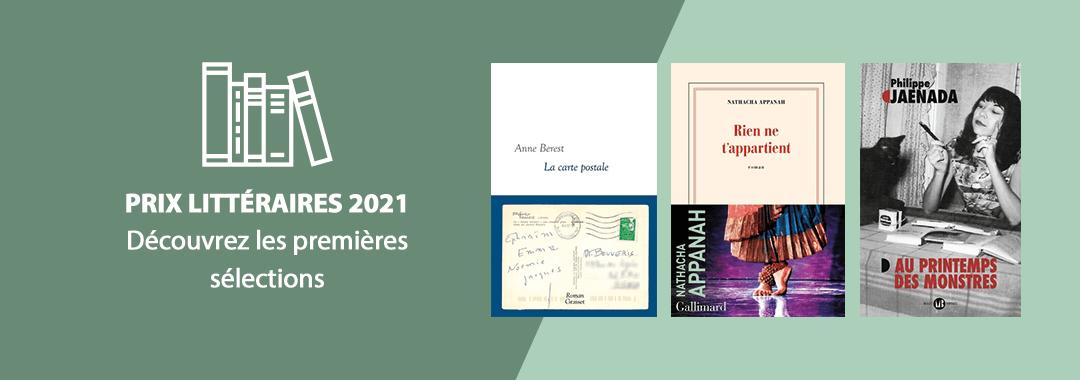 Prix littéraires 2021