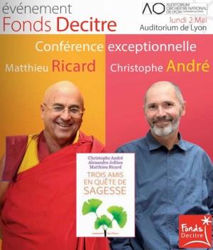 Conférence Christophe André et Matthieu Ricard