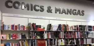 Rayon comics de la librairie d'Annemasse
