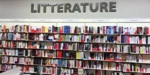 Rayon littérature de la librairie d'Annemasse